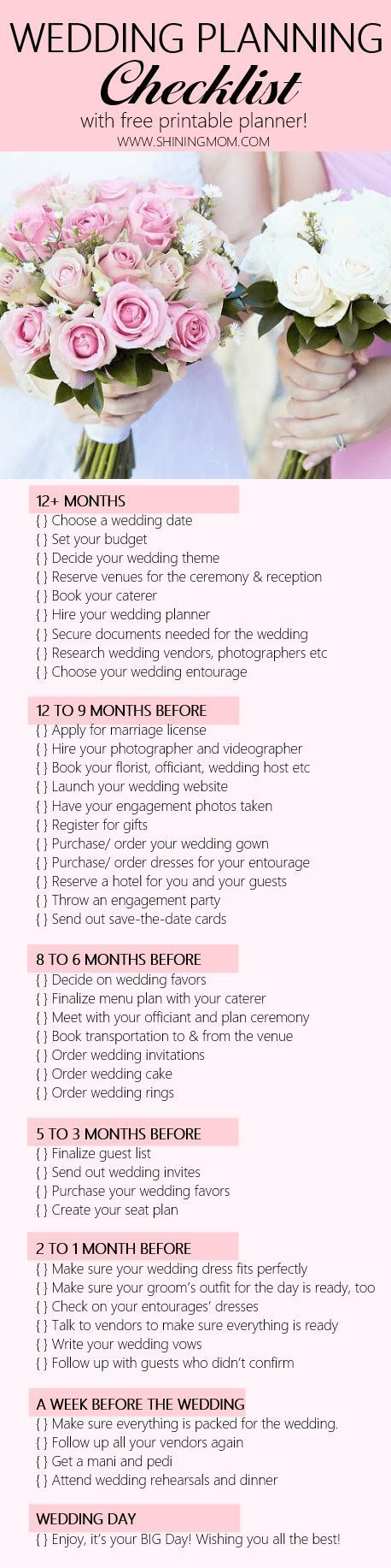 wedding planning checklist spreadsheet free%0A Never miss an important detail on your wedding with this wedding planning  checklist  It also