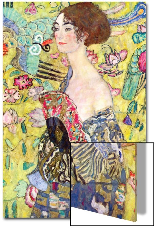 Lady with a Fan, 1917-18 Akrilik Sanatı by Gustav Klimt at Art.com