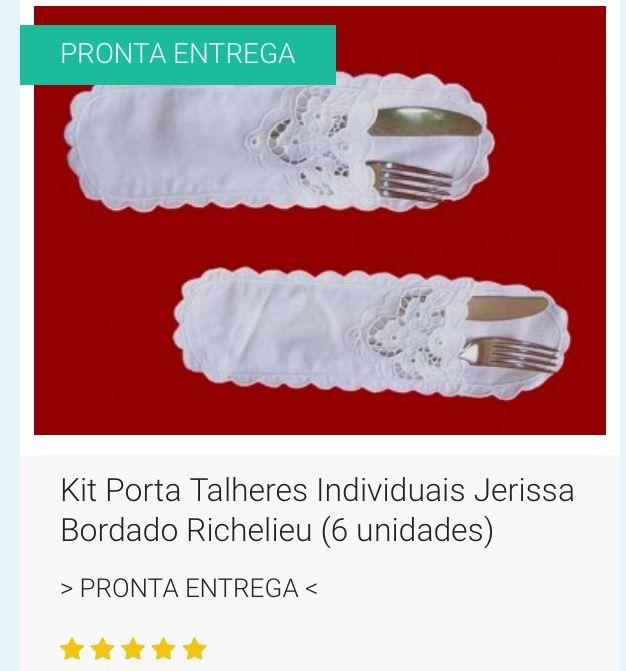 PARA SUA MESA DE NATAL 🎅🏻🎅🏻 e MESA DE ANO NOVO 🍾🍾🍾 🎁 ENVIO IMEDIATO 🎁😍😃👍 👉 KIT PORTA TALHERES INDIVIDUAIS JERISSA BORDADO RICHELIEU (6 UNIDADES) //  👉 Tecido Cambraia de linho Rami.  👉 Bordado na Linha 100% Algodão. 👉 Tam. 27x8cm. //  💻 http://www.bordadosdoceara.com.br/produtos/mesa/kit-porta-talheres-individuais-richelieu-6-unidades-detail.html  📱 WhatsApp 85 98959.9107