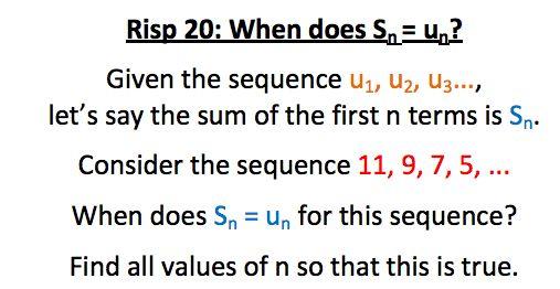 RISP 20 - S_n = u_n