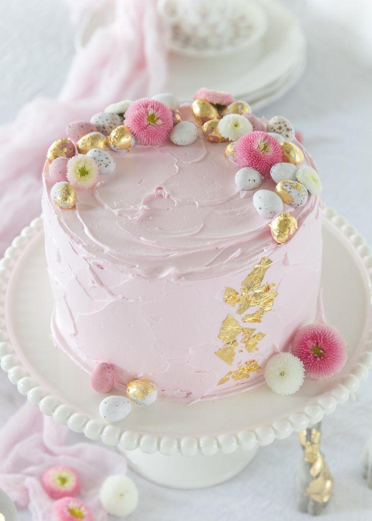 Rhabarber-Himbeer-Tiramisu-Torte