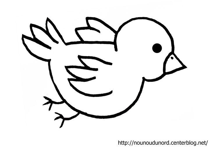 Coloriage oiseau réalisé par nounoudunord.