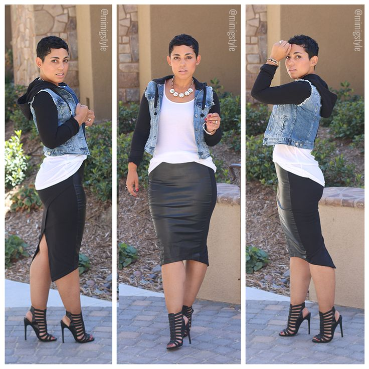 Today's #OOTD: I'M A BADDIE LEATHER SKIRT - Mimi G Style