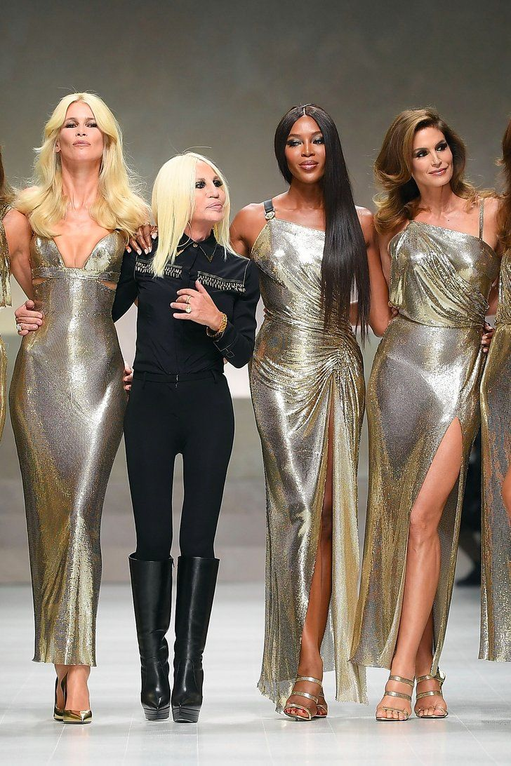Donatella Versace Brought Back These OG Supermodels For Her Runway Show —and Nothing Was the Same