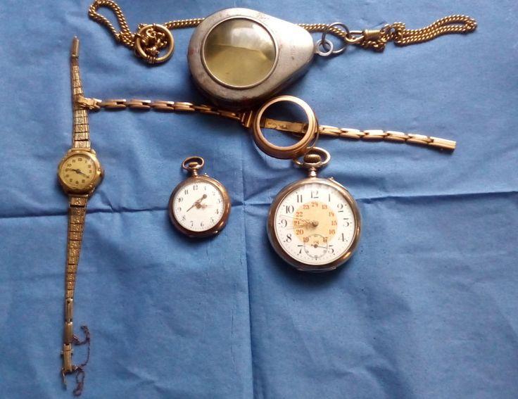Uhren Konvolut Taschenuhren antik Biedermeier Jugendstil Art Deco - laufen alle