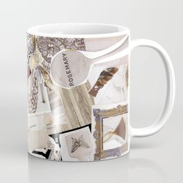 """Great wedding & bridesmaids gifts - an elegant coffee mug designed in Italy. Title """"Rosemary""""."""