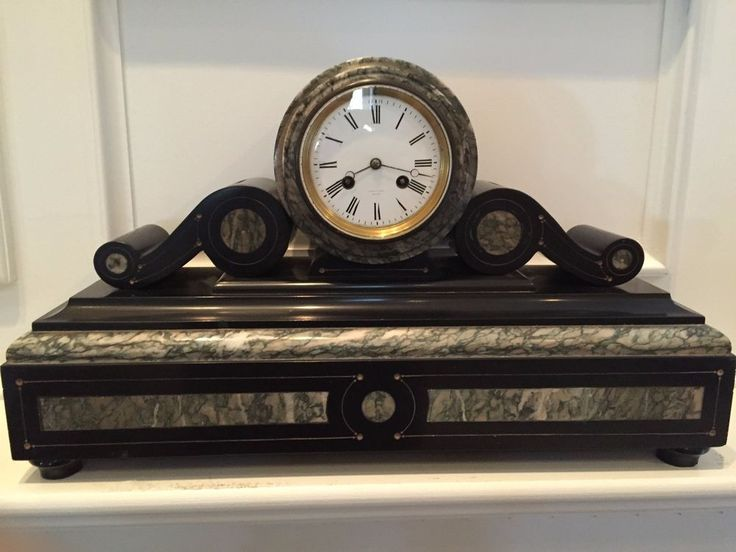 Tiffany & Co. Antique Marble Mantle Clock very LARGE