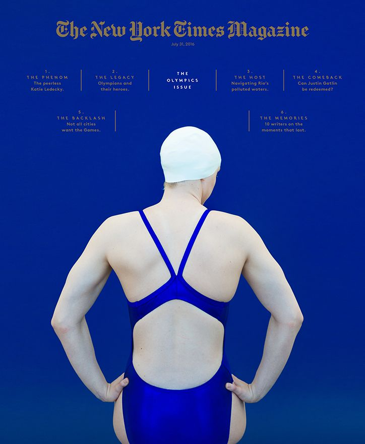 Colors, visuals. Great art direction. Visually pleasing and strong. // Nyt_olympics_0_cover-web724
