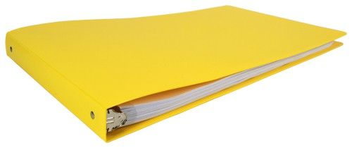"11x17 Binder - 1"" Round Ring Poly (Yellow)"