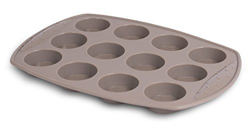 Internet's Best Silicone Mini-Muffin Pan | 12 Cup | Cupcake Tray | Cake Baking Mold | BPA Free | Dishwasher Safe
