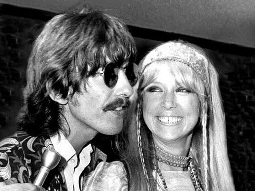 George Harrison and Pattie Boyd, via Flickr.