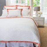 Great site for cute quality bedding | Coral Duvet Cover | The Linden Coral Duvet
