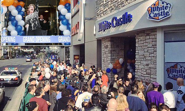 Las Vegas' first White Castle opens to 2-hour lines; closes to restock