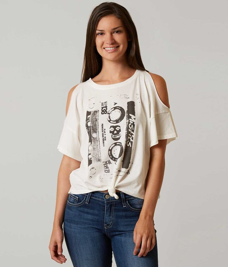 Icons of Culture Misfits Cassette Band T-Shirt - Women's T-Shirts in Cream | Buckle