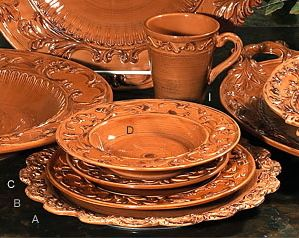 Tuscan Horchow Paprika Burnt Orange Dinnerware 16 PC Set | eBay
