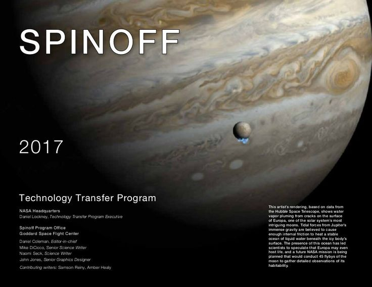 National Aeronautics and Space Administration-Spinoff2017
