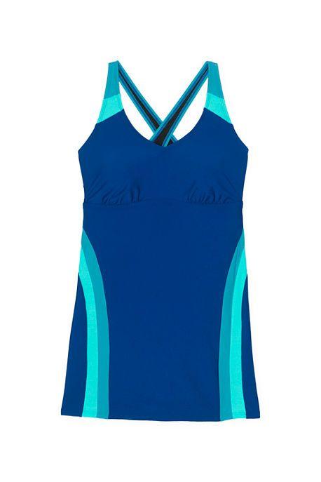 653e08511af Women s Plus Size Polyester V-neck Swimdress