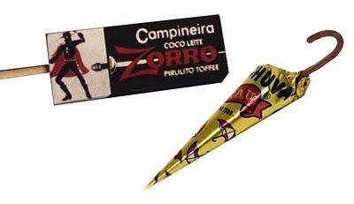 Pirulito Zorro - Guarda Chuva de chocolate | o/ aNoS iNcRíVEis :)