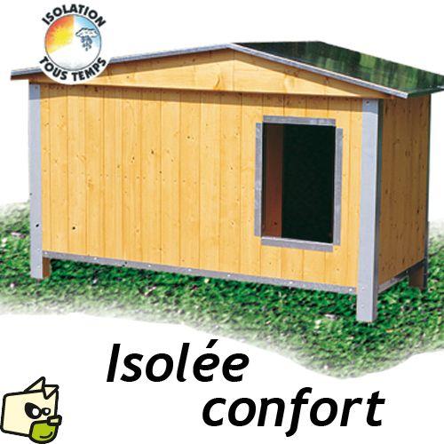 Niche isolation renforcée avec toit double pans. Cette niche de qualité  professionnelle de la gamme CONFORT possède une très bonne isolation. 981a2d1636f5