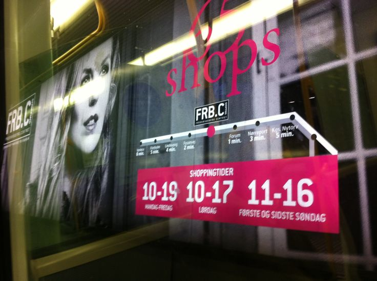 On my way to work..... Our billboard from Frederiksberg Centret shopping mall, FRB.C Shopping, at Nørrebro metro station Cph. Love my work