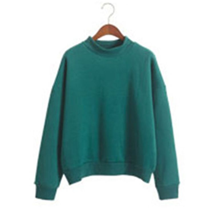Spring Autumn Women Hoodies Casual  Sweatshirt Pullover Long Sleeve Crew Neck Coat Jacket Outwear