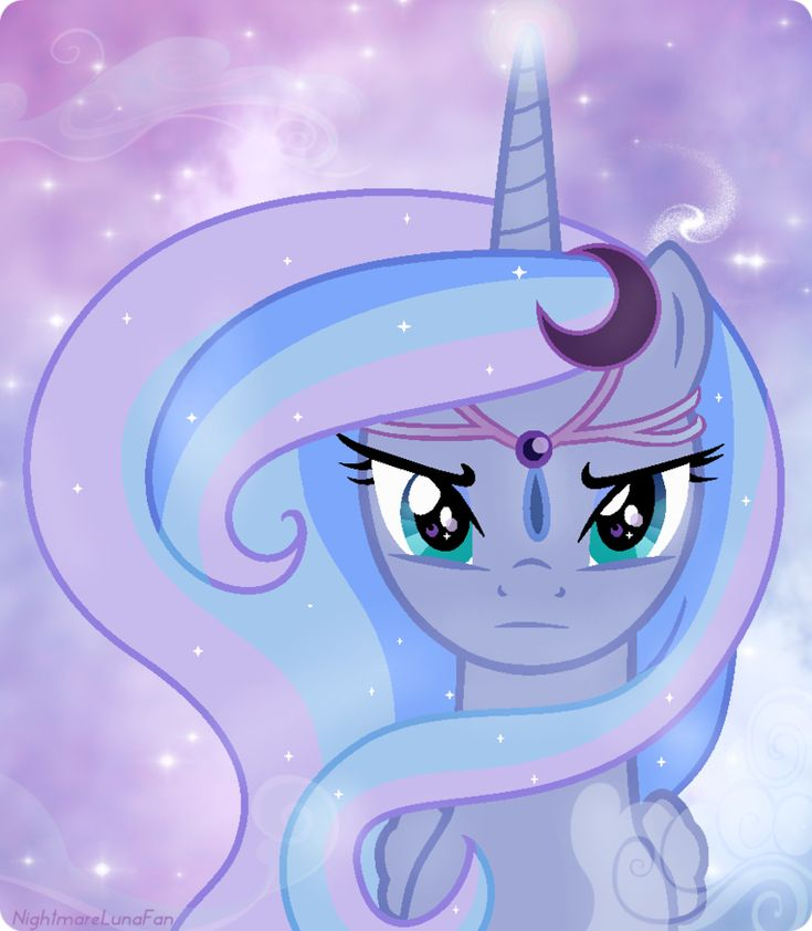 Princess Luna S1 Rainbow Power Style by NightmareLunaFan on deviantART--- Sunrise? MOON-rise, dollface!