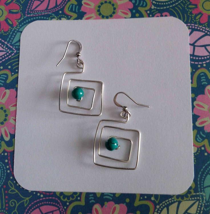 Turqoise wired earrings