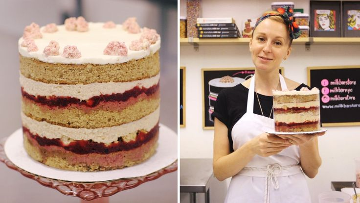 Master the Naked Cake Technique With Christina Tosi's Cranberry Gingerbread Layer Cake