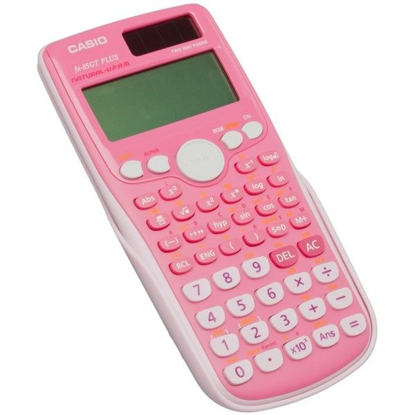 CASIO FX-85FT PLUS Pink Scientific Calculator ❤ liked on Polyvore featuring home, home decor, office accessories, electronics, filler, stationary, pink office accessories, casio calculator and casio