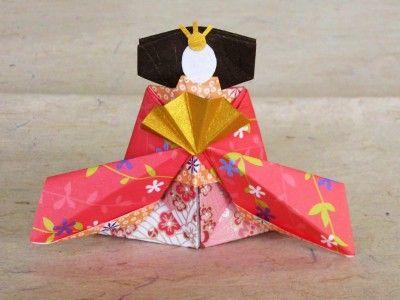 #origami Hina dolls for Hinamatsuri (Girl's festival in Japan)