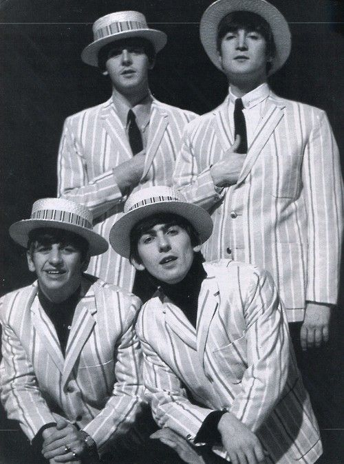 Wicker Hats worn by the Beatles Classic vintage... —//the Greg Appreciation Day Barbershop Quartet//greg would love this!