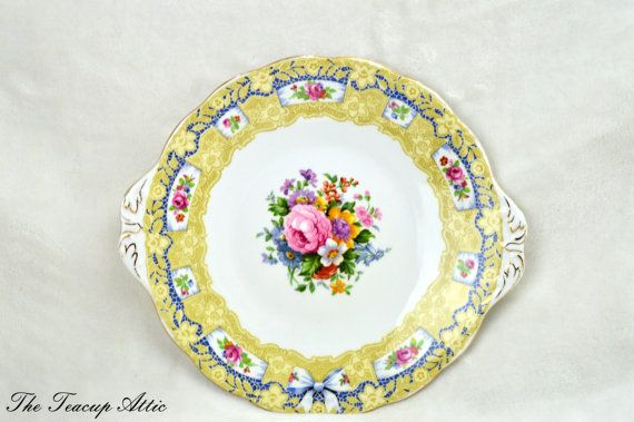 Royal Albert Crown China Valentine Cake Plate by TheTeacupAttic