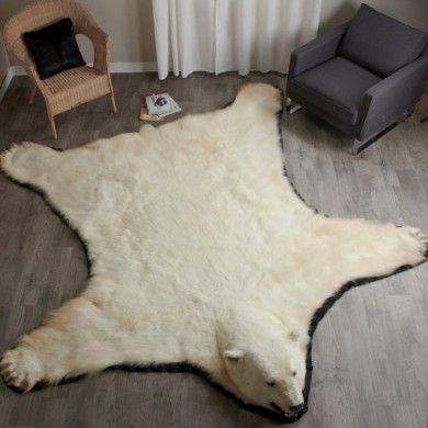 10 Foot Polar Bear Rug #EP411263