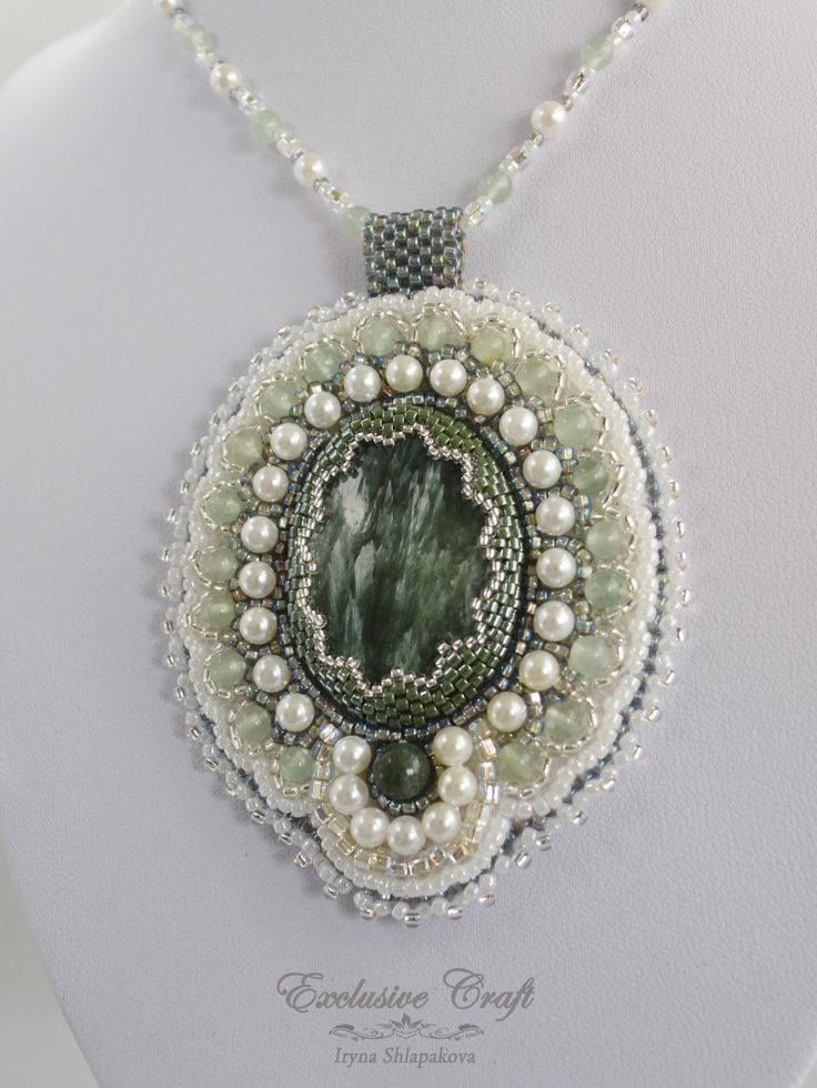 """Pendant with Seraphinite """"Magic Dreams"""" by Exclusive Craft. www.etsy.com/shop/exclusivecraft"""