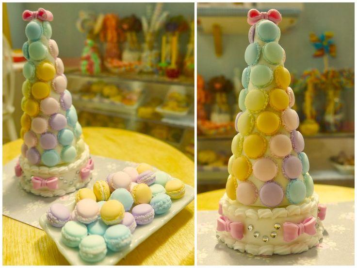 Rainbow Macaron tower 1/6 scale by LittlestSweetShop.deviantart.com on @DeviantArt