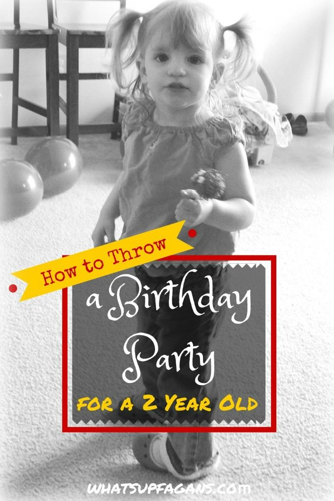 Some very helpful tips on how to plan a birthday party for a 2 year old. Very helpful! | whatsupfagans.com