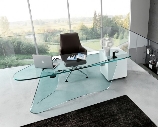 glass table office. zavier lust the graph desk glass office table