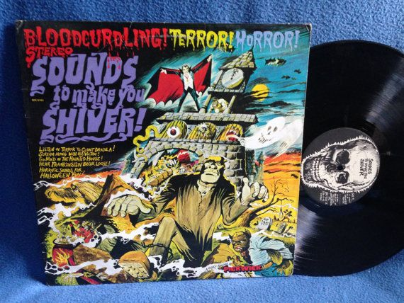 "Vintage, Wade Denning ""Sounds to Make You Shiver"" Haunted House Music, Vinyl LP, Record Album, 1970s Halloween, Horror Sound Effects Macabre"