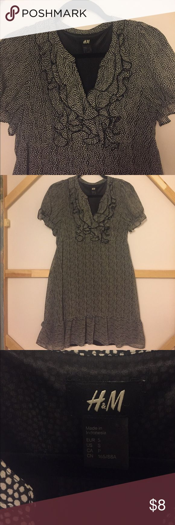 Dress H&M polka dot short dress H&M Dresses Mini