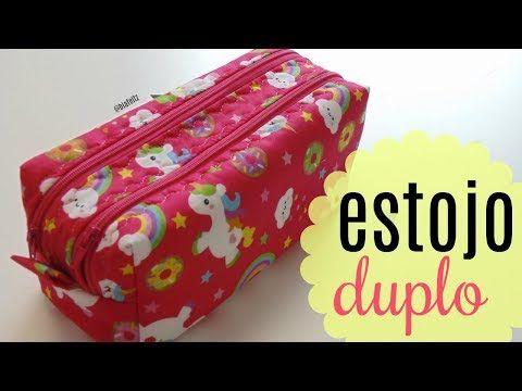 Estojo DUPLO ( 2 zíper ) - Passo a Passo - Bia Feltz - YouTube