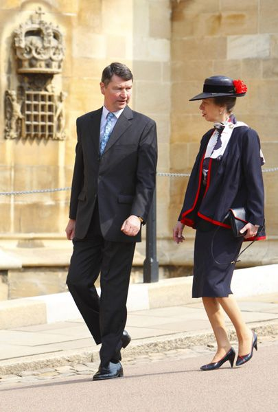 Princess Anne and husband Timothy Laurence attend Easter Matins at St George's Chapel Windsor.