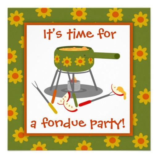 71 best Fondue Themed Party images – Fondue Party Invitations