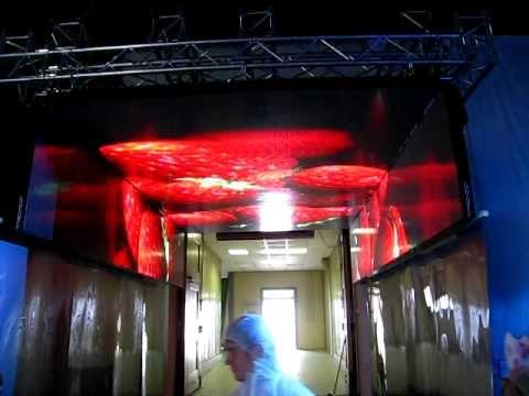 Светодиодный потолок на мероприятии - 5х4 метра и боковые секции по 1 метру, шаг 10мм