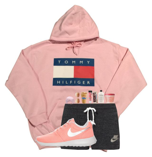 """tired and bored"" by flowers8989 ❤ liked on Polyvore featuring NIKE, Tommy Hilfiger, Beauty Rush, philosophy and Zoella Beauty"