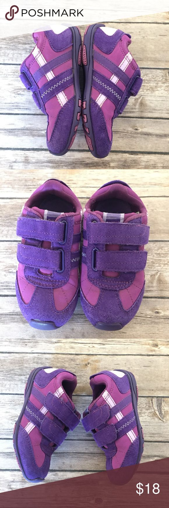 Pediped Purple Sneakers, Size 26/Toddler 9 Pediped Purple Sneakers, Size 26/Toddler 9, purple tennis shoes with Velcro closures.  Great basic, GUC for typical wear, but no major flaws.  Please see all pics. pediped Shoes Sneakers