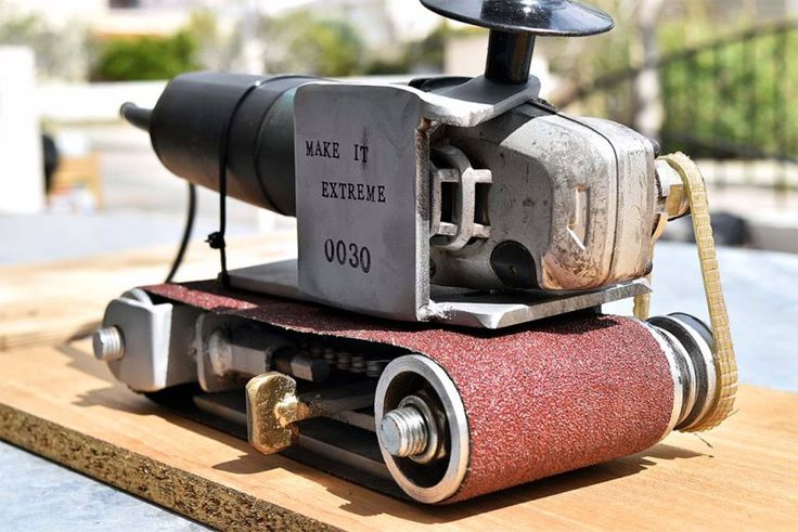 Turning an Angle Grinder into a Belt Sander | Hackaday