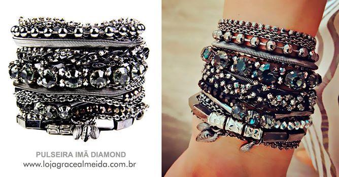 Pulseira Imã Diamond Na loja virtual: www.lojagracealmeida.com.br