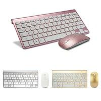 Wish | K108 Ultra-thin Wireless 2.4G Keyboard Mouse Set E-sport Gaming Keyboard Home Office Keyboard and Mouse for Desktop Laptop Smart TV