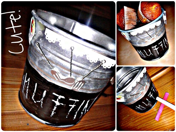Candy pot with chalkboard