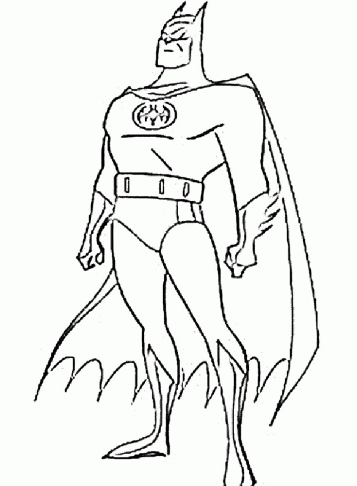 Animated Batman Coloring Pages Page 6